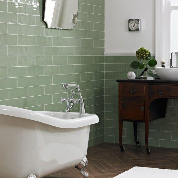 Piccadilly Sage 100x300 Bathstore Green Tile Bathroom Green Bathroom Top Bathroom Design