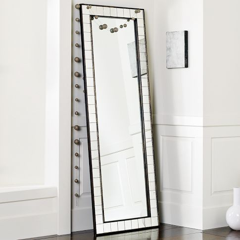 west elm Antique Tiled Floor Mirror | Floor mirror, Tile flooring ...