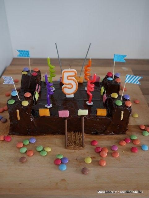 G teau chateau fort recette recette facile anniversaires et ch teaux - Gateau anniversaire princesse facile ...