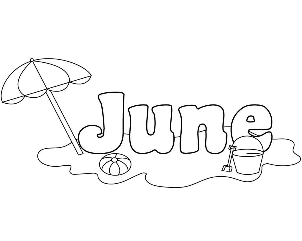 June Coloring Pages In 2020 With Images Coloring Pages For Kids Adult Coloring Book Pages Beach Coloring Pages