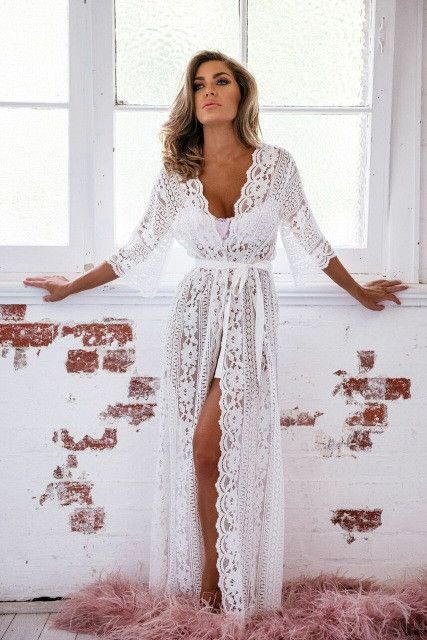 a08e5a3ae Willow Boho Lace robe