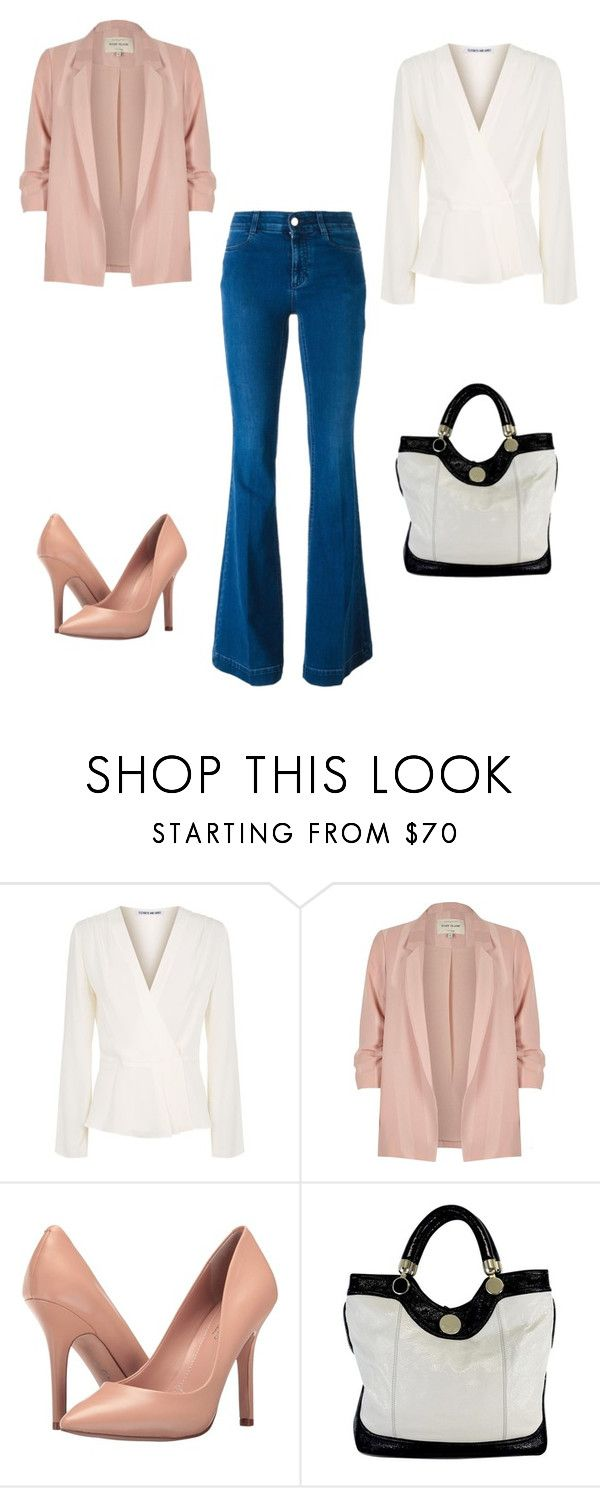 """jeans"" by linamakovskaya on Polyvore featuring мода, Elizabeth and James, River Island, Charles by Charles David, Jill Stuart и STELLA McCARTNEY"