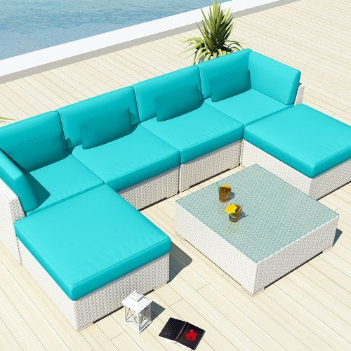 Incredible Uduka Outdoor Sectional Patio Furniture White Wicker Sofa Unemploymentrelief Wooden Chair Designs For Living Room Unemploymentrelieforg