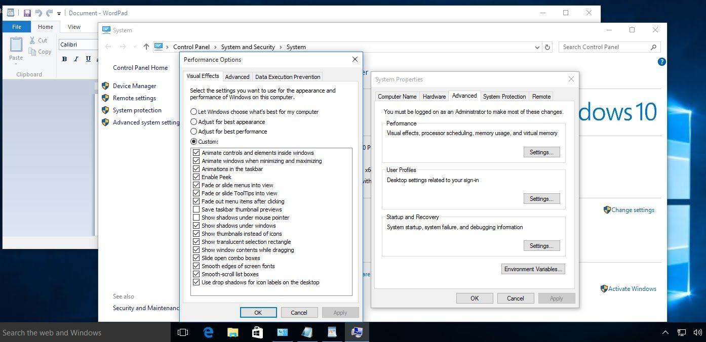 Enable Desktop Peek Or Aero Peek In Windows 10 Windows 10 Tutorials Windows 10 Windows