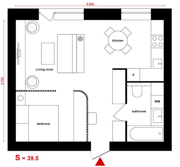 Come arredare una casa di 40 mq 5 progetti di design mini appartamenti design appartamento for Arredare casa di 40 mq