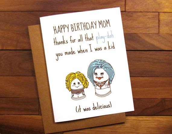 Funny Birthday Card For Mother Funny Play Doh Card Funny Mother