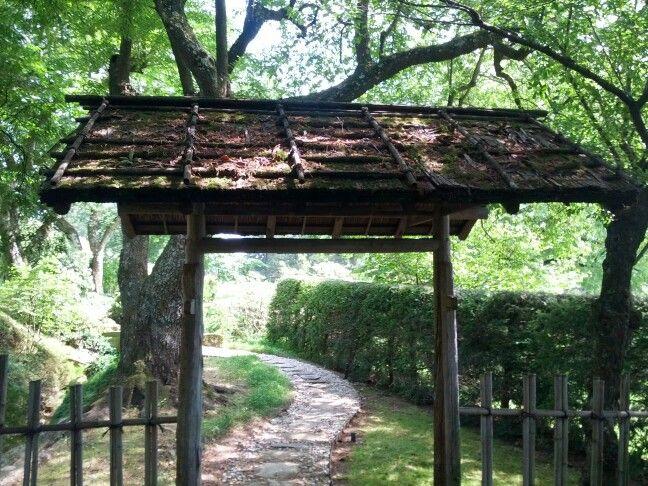 Hinoki Bark Roof Entrance Gate Kykuit S Japanese Garden