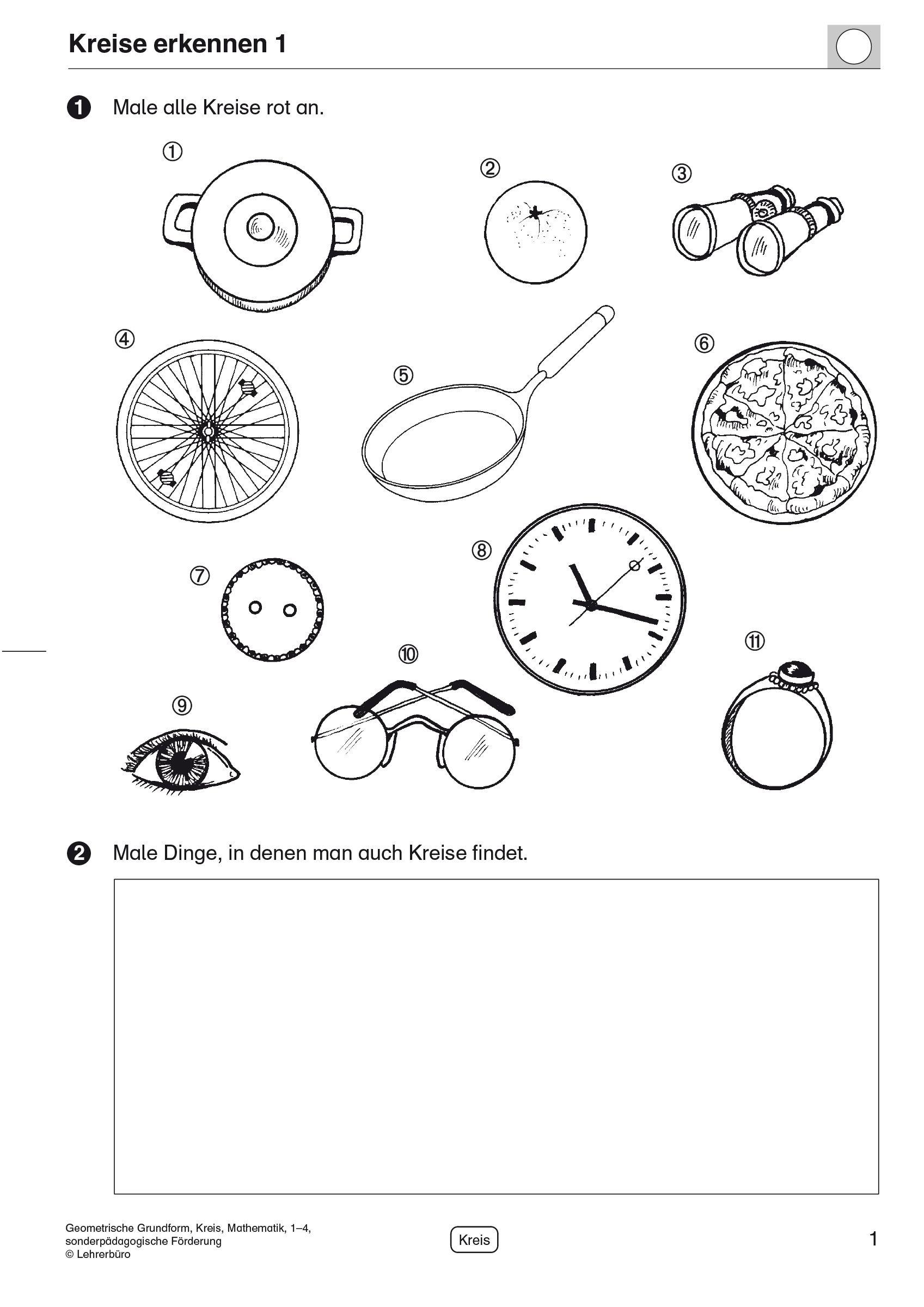 20 Arbeitsblatt Kreis