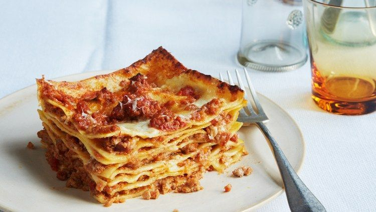 Bolognese Lasagna Bolognese Recipe   Bon Appetit  Note: can use oven ready lasgana noodles and decrease broth to cook in less timeLasagna Bolognese Recipe   Bon Appetit  Note: can use oven ready lasgana noodles and decrease broth to cook in less time