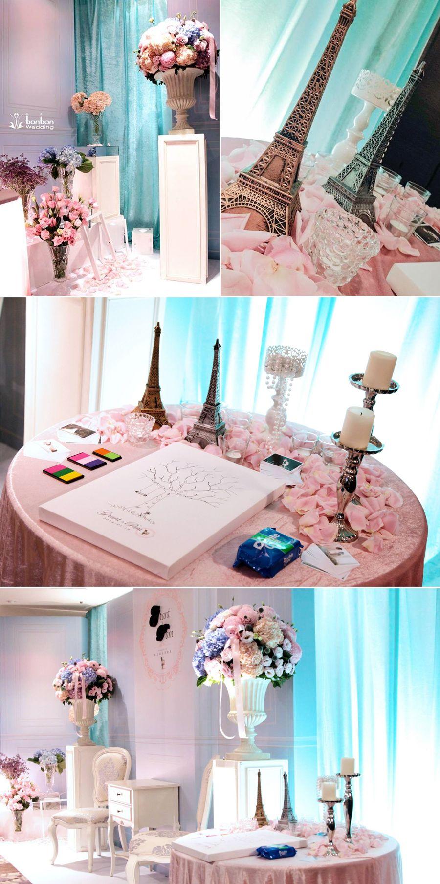 Blue Paris Reception Decor Theme Inspiration And Decorating Ideas