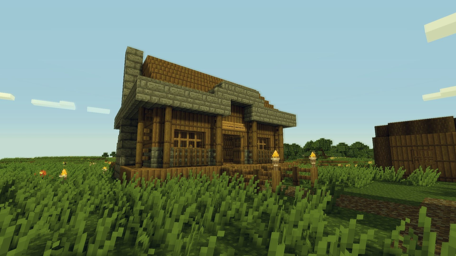 Minecraft Town House Easy Minecraft Houses Village House Design Minecraft House Designs