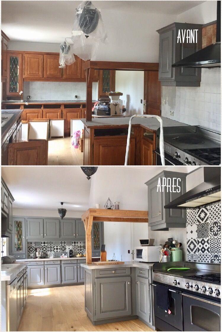 Relooking Maison Avant Apres avant/après, cuisine rénovée et remise au goût du jour