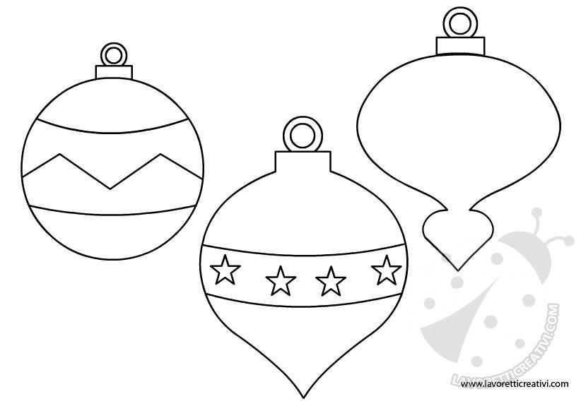 Palline Di Natale Sagome Per Lavoretti Christmas Winter