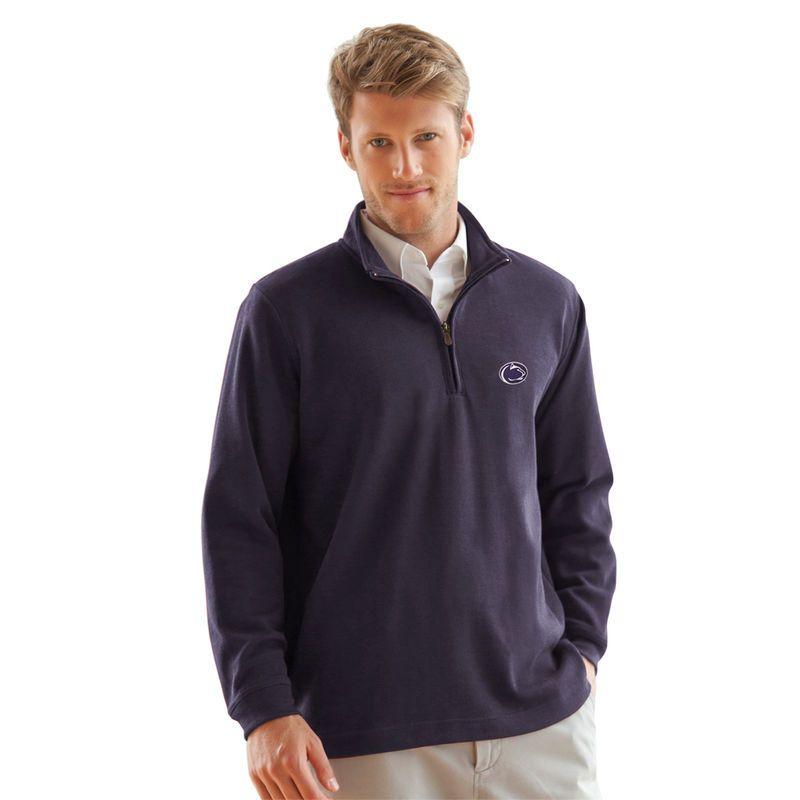 df6896943 Penn State Nittany Lions Flat Back Rib 1 4 Zip Sweater - Navy Blue ...