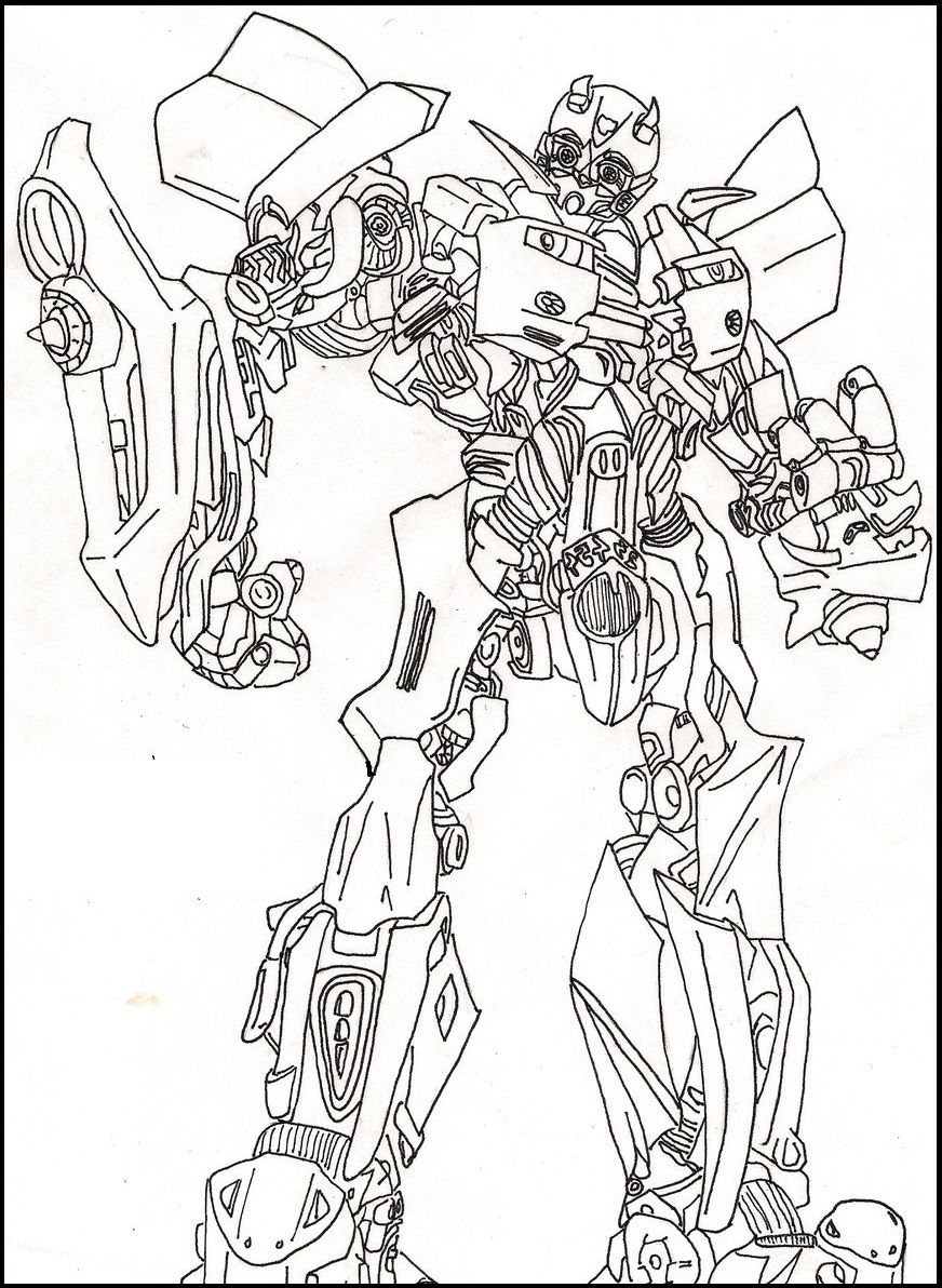 bumble bee transformers coloring picture for kids transformers