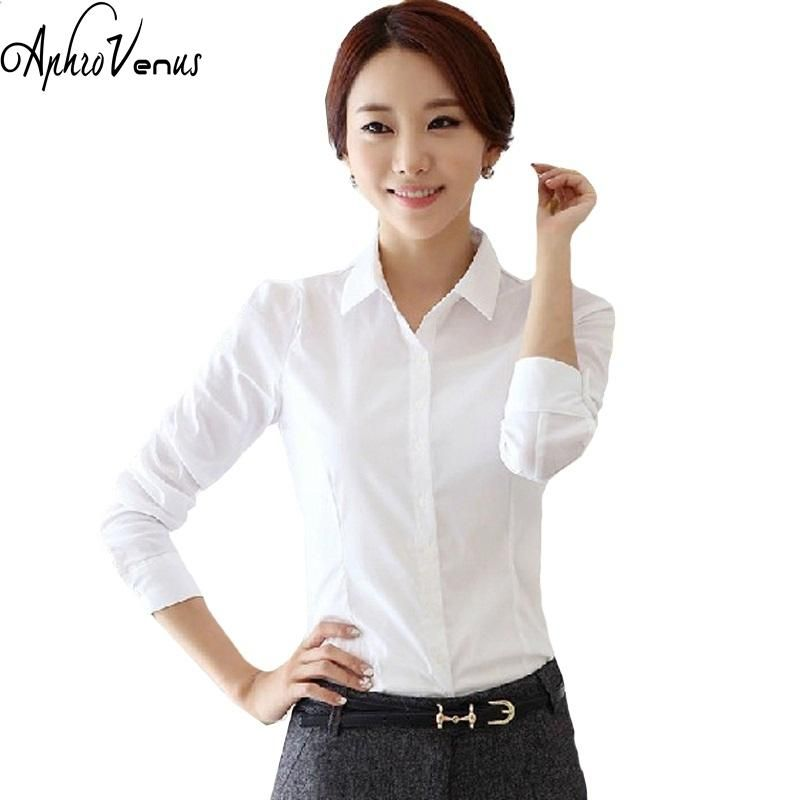 5a83e129665 2016 Top Quality Summer Style Chiffon Blouse Women Shirts Long Sleeve Turn  Down Collar White Ladies Shirt Blusas Femininas