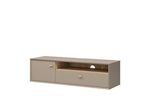 Lowboard Föhr Steingrau / Navarra-Eiche-Nb Sideboard Kommode - schrank für wohnzimmer
