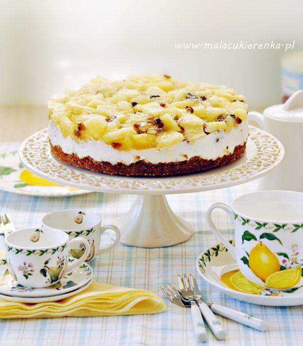 http://www.malacukierenka.pl/ciasto-orzechowe-z-ananasem.html ciasto orzechowe z ananasem
