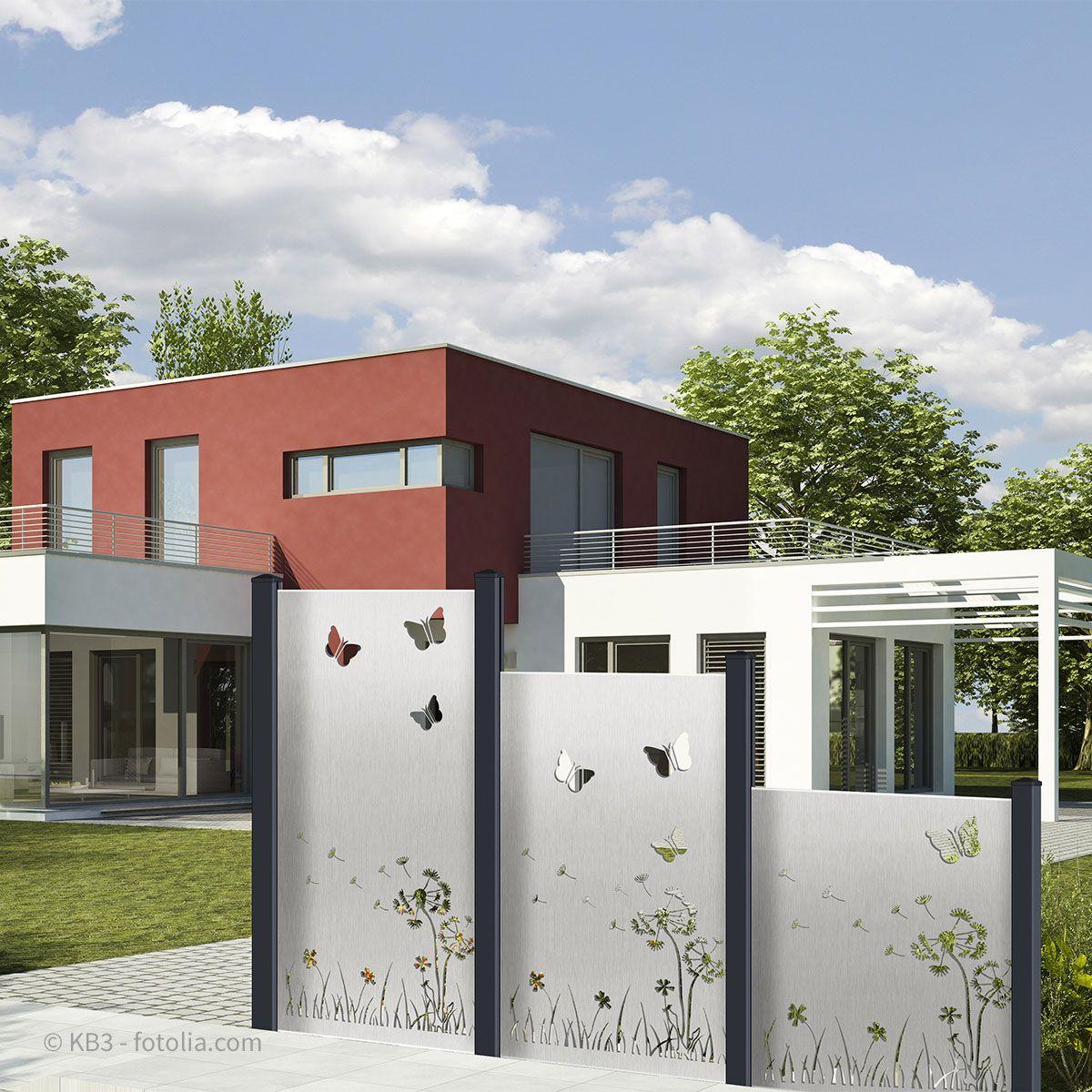 Design Edelstahl Blechfullung Motiv Wiese Pusteblume In 2020