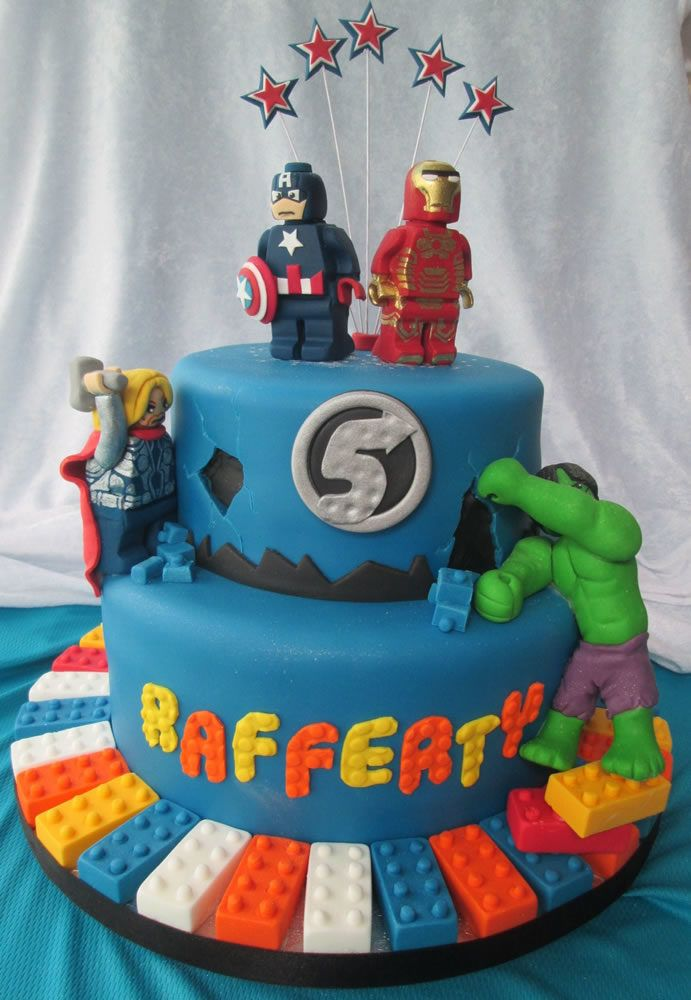 Lego Avengers Birthday Cake Price Band 3 6th Bday Party