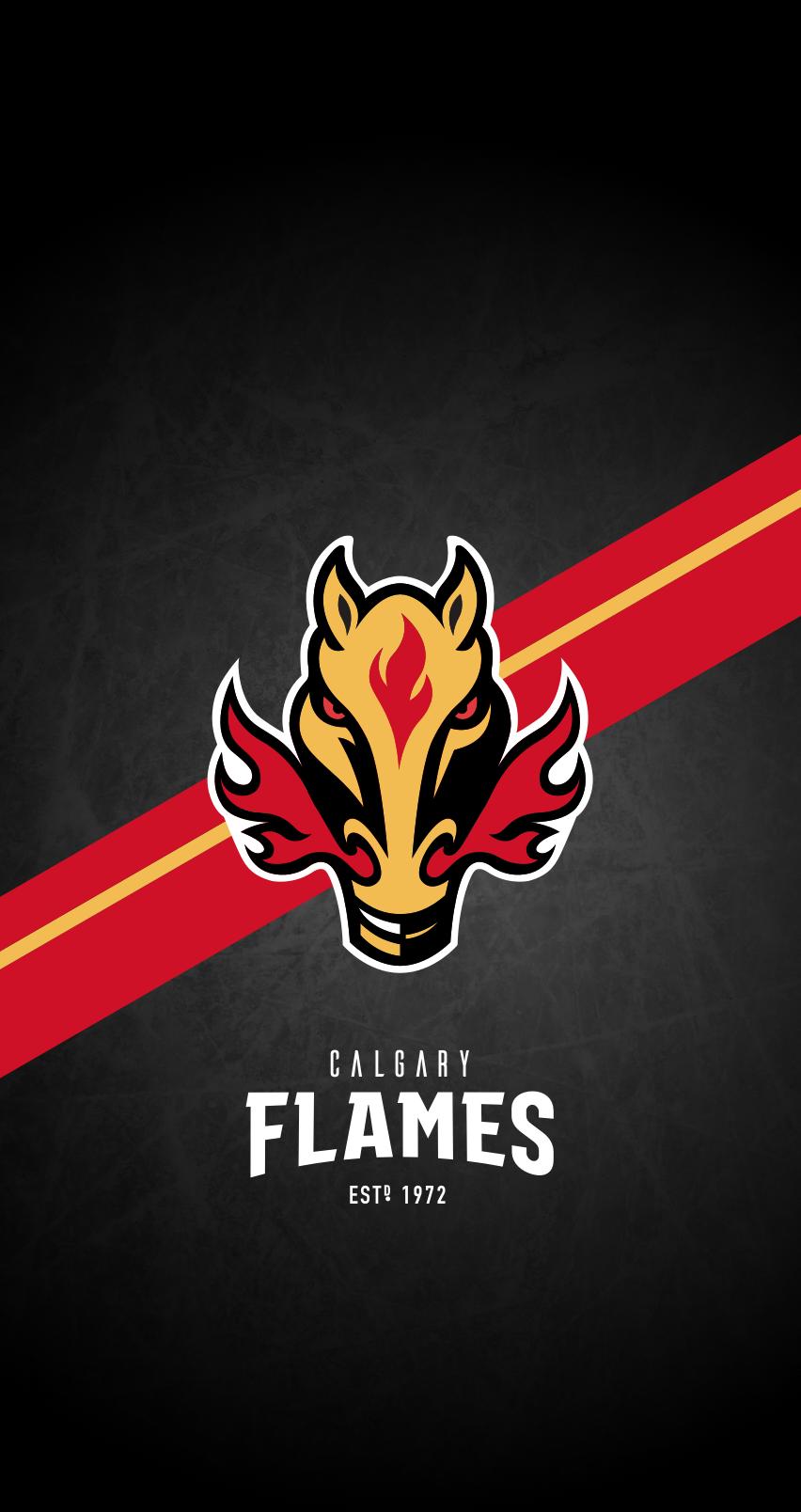Calgary Flames Nhl Iphone 6 7 8 Lock Screen Wallpaper Calgary