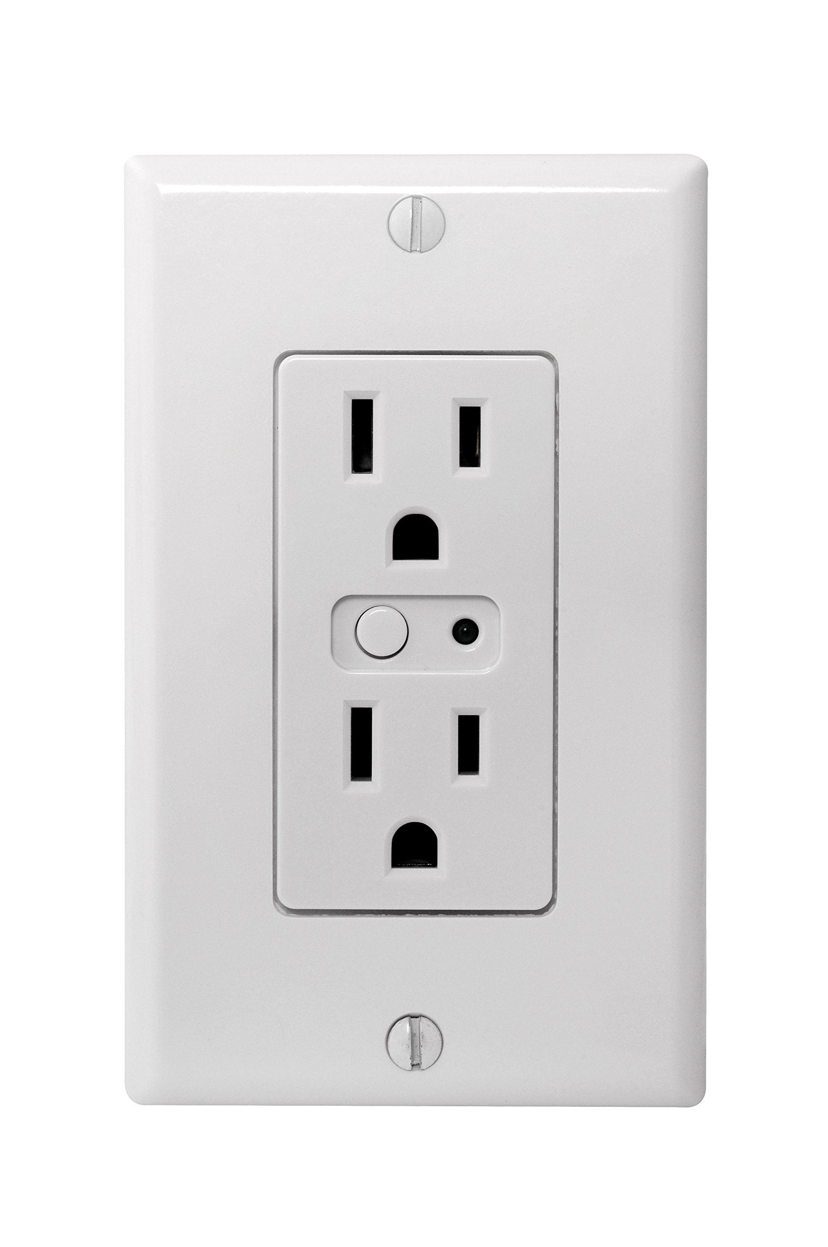 Linear WO15Z-1 Z-Wave Tamper Resistant 15-Amp Wall Outlet, Small ...