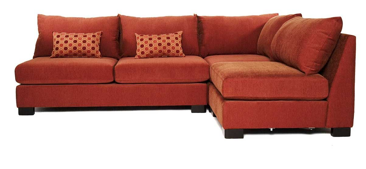 Small Terracota Armless Sectional Sofas With Sleeper  sc 1 st  Pinterest : armless sectional - Sectionals, Sofas & Couches
