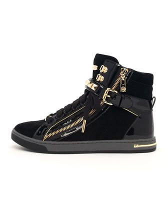 e6d5e1462c7de GLAM STUDDED HIGH TOP by MICHAEL Michael Kors at Neiman Marcus ...