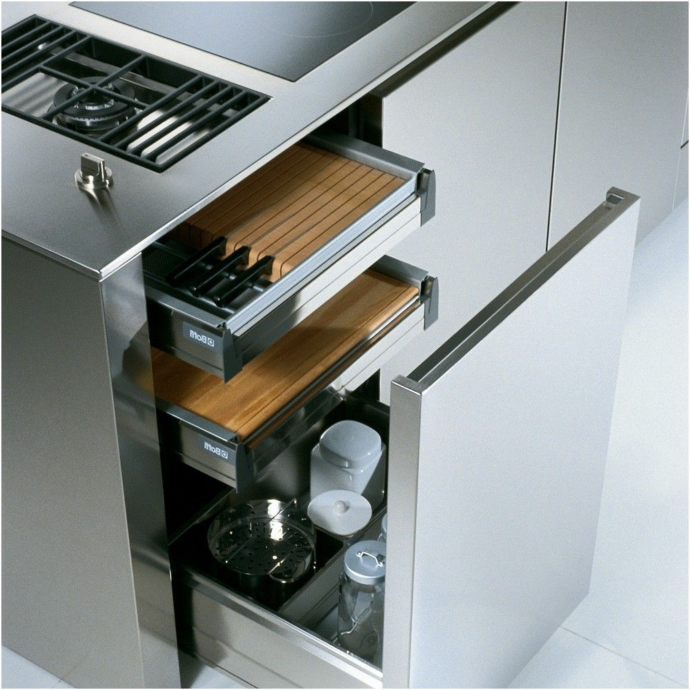 boffi kitchens drawers for cooking oils utensils etc from Inox ...