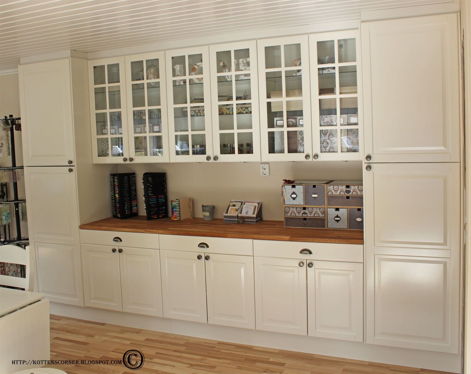 Kitchen Cabinets Used For Craft Room Organization Simply