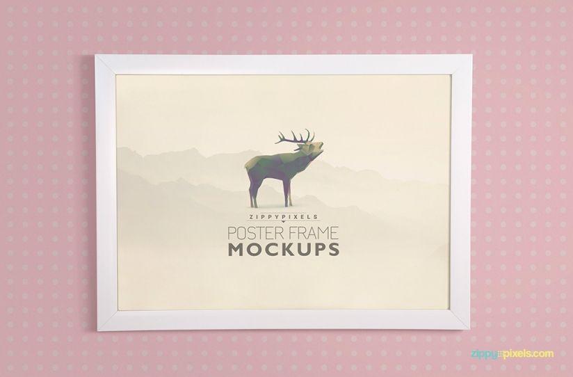 19 Elegant Poster Frame PSD Mockups   Frame and Poster Mockups ...