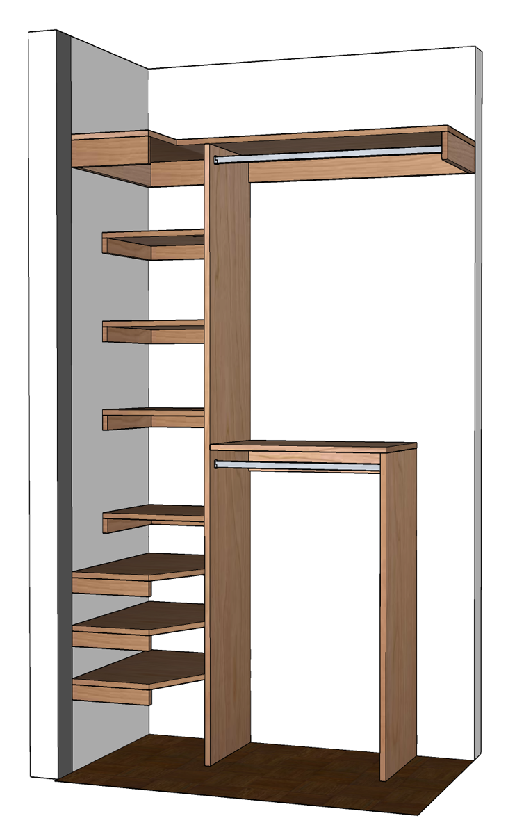 Small closet organization diy small closet organizer for Walk in closet designs for small spaces