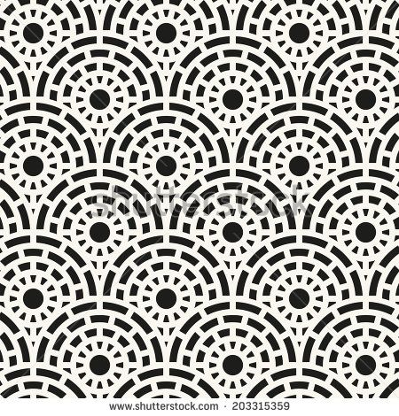 Vector seamless pattern. Modern stylish texture. Repeating abstract background with sett