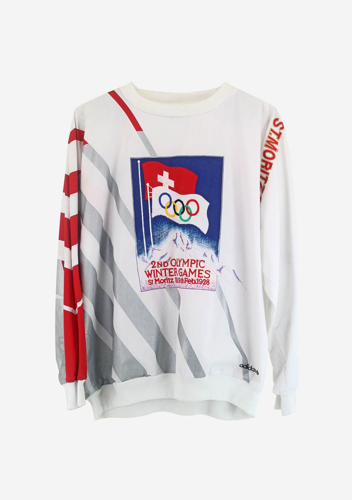 rare 80's vintage adidas sweatshirt olympic winter games