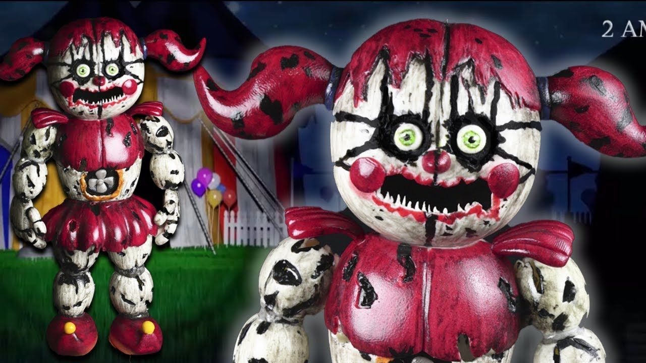 Nightmare Baby Tutorial Polymer Clay Cold Porcelain In 2021 Baby Tutorial Cold Porcelain Fnaf Art