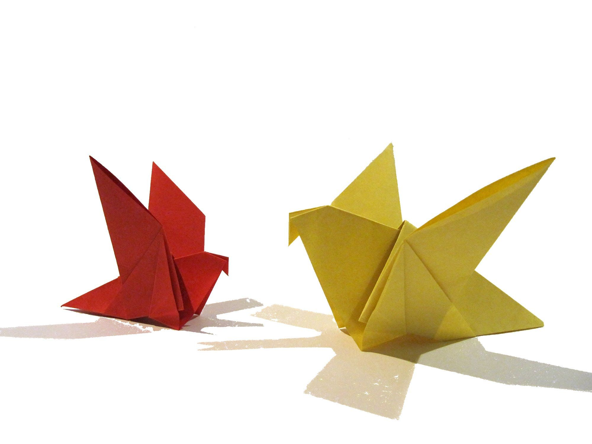 Easter Origami Bird - Easy Origami Tutorial - How to make ... - photo#16