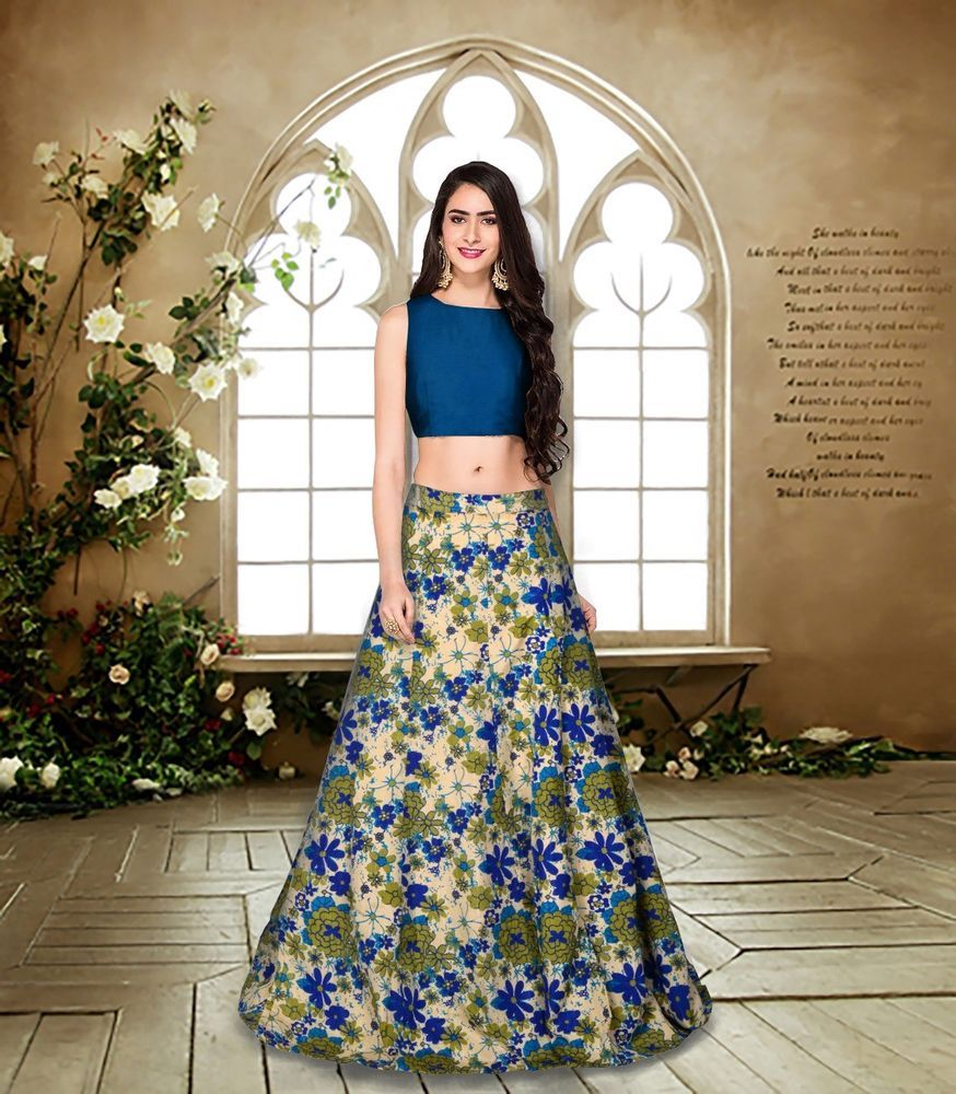 Blue Color Bollywood Designer Party Wear Wedding Lehenga Choli