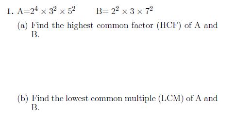 Hcf And Lcm Using Prime Factorisation Prime Factorization Lcm Common Multiples