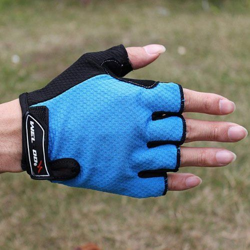 Bicycle Bike Gel Half Finger Fingerless Gloves. * Click image to review more details.