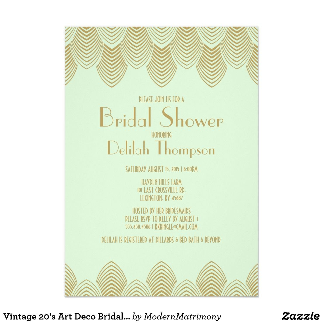 Vintage 20s art deco bridal shower invitation wedding bridal vintage 20s art deco bridal shower invitation filmwisefo