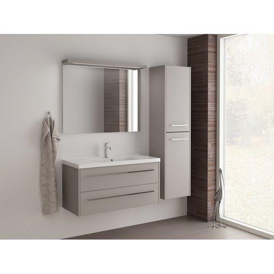 Scanbad Badmobel Set 100 Cm Mit Spiegelpaneel Fox Vanilla Grey 3