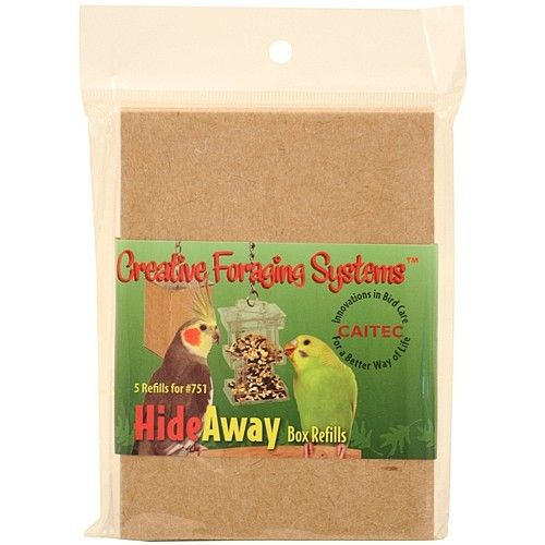 Hide Away Foraging Box Feeder for Parrots - Refill Boxes