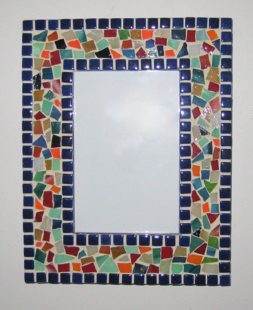 Royal Blue Border with Multi-colors Frame
