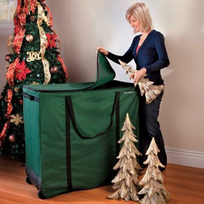 Pack Away Your Holiday Decor In This Large Multi Function Storage Bin This Roomy Holiday Christmas Storage Christmas Decoration Storage Christmas Tree Storage