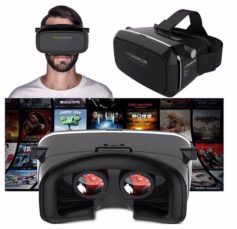 Original VR SHINECON Virtual Reality Headset 3D Glasses for Smartphones 3.5~6.0 +Bluetooth Gamepad Black Color (18)