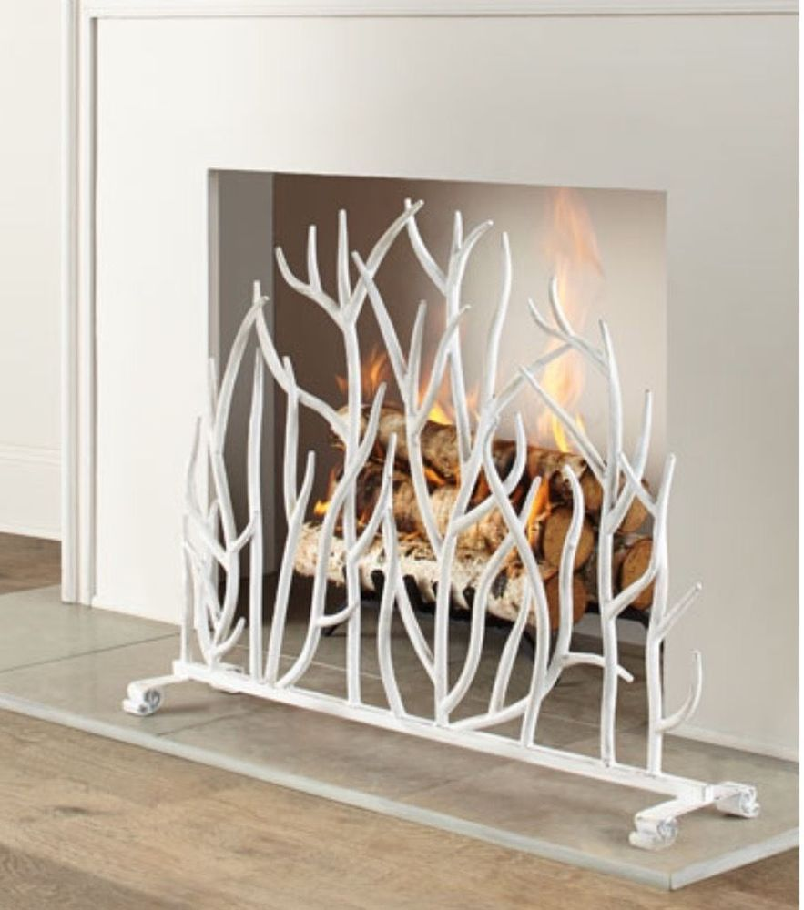 northline fireplace white graphite weston screen g leaf express grap large