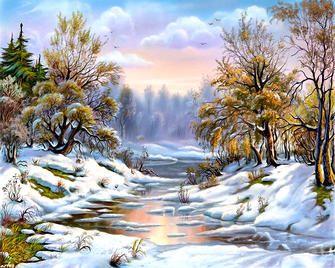 Картина по номерам Paintboy «первый месяц весны» | Пейзажи ...