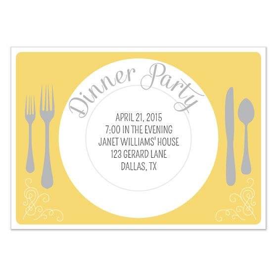 Dinner Invite Template Dinner Party Invitation Template