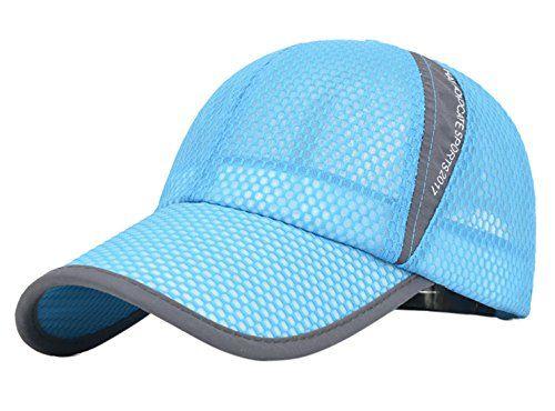 Panegy Unisex Mesh Brim Tennis Cap Outside Sunscreen Quick Dry Adjustable Baseball Hat