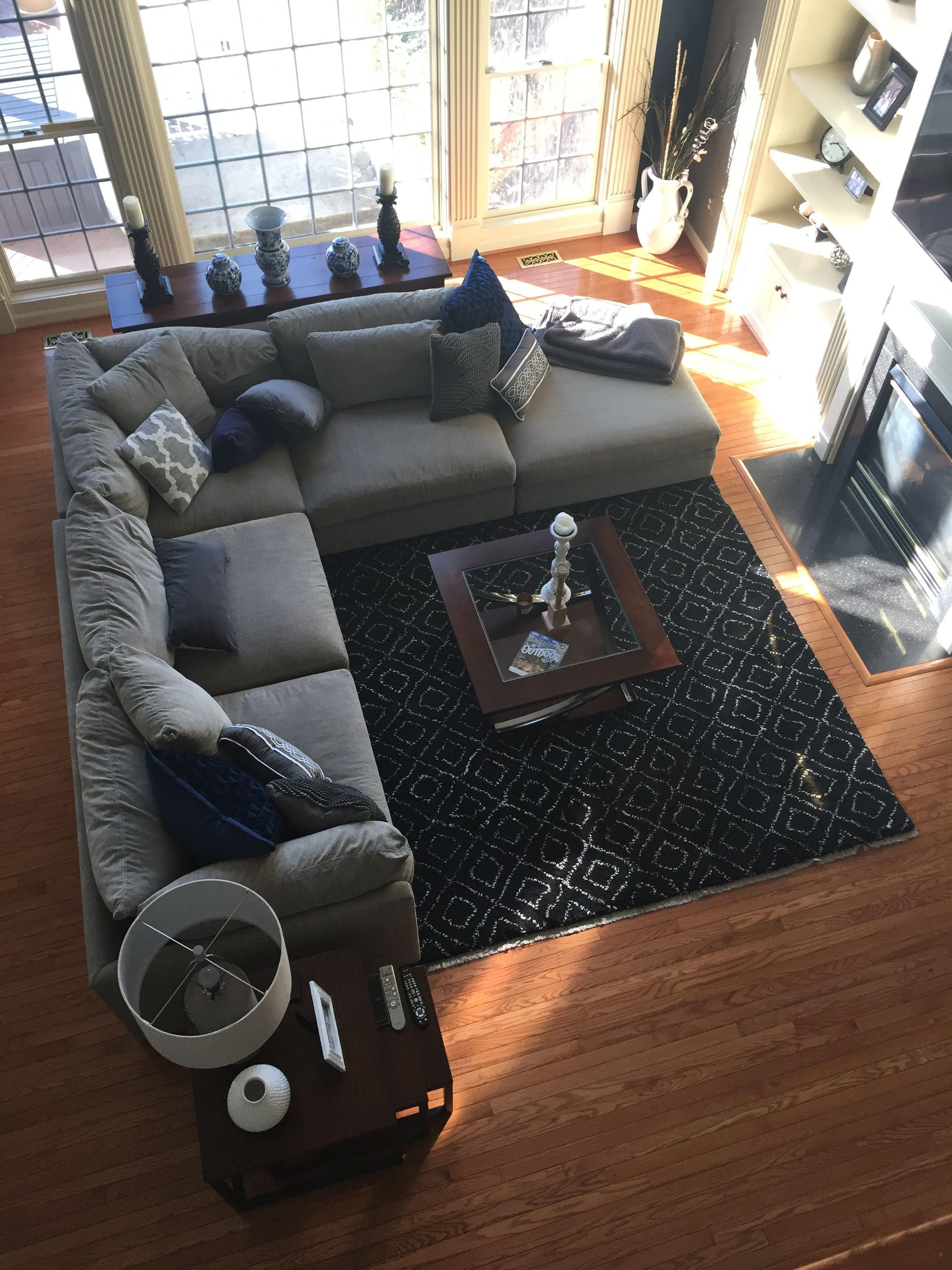 Awe Inspiring Gray Sectional Arhaus Black Rug Chelsea Gray Benjamin Machost Co Dining Chair Design Ideas Machostcouk
